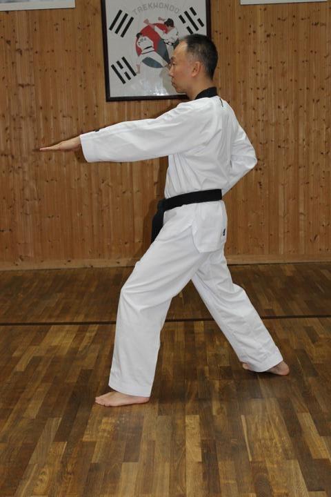 Pyonsonkkeut Upeo Tzireugi (Turned over open hand fingertips thrust)